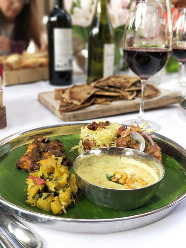 banana leaf, food, south indian curry