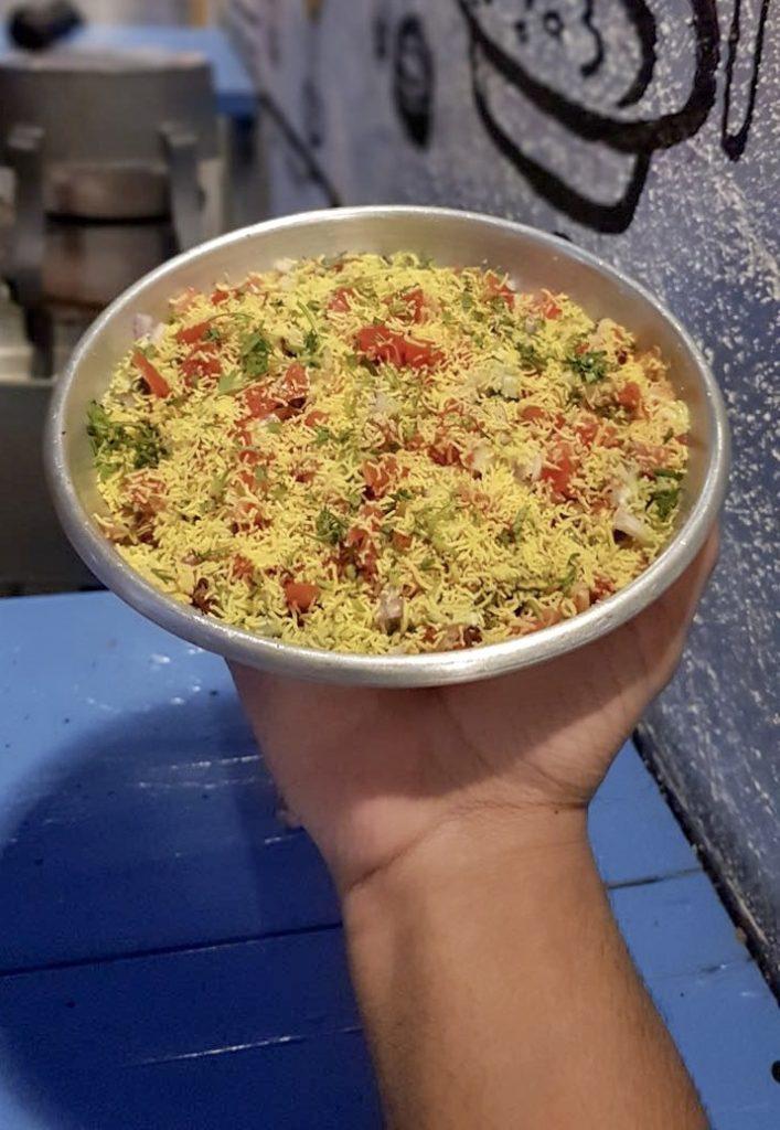 bakarwadi chaat, chaat, bakarwadi