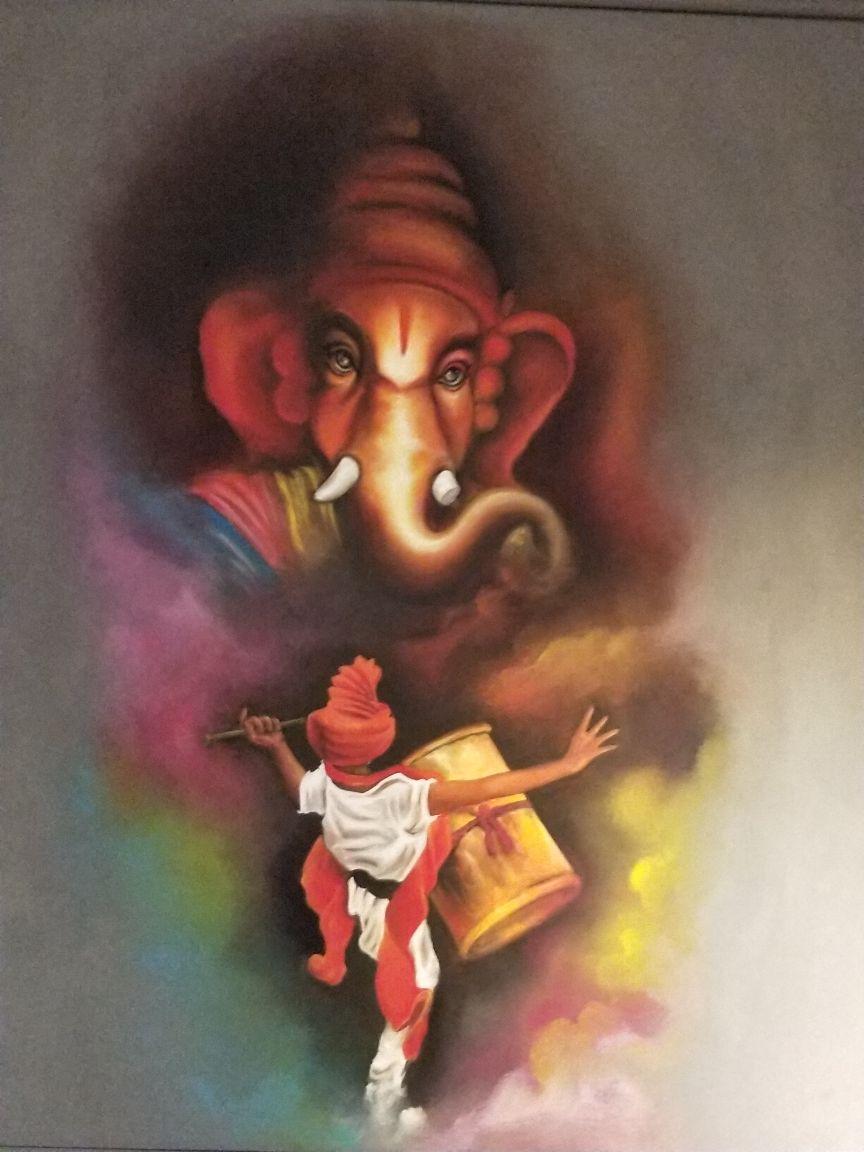 painting, ganesh, ganapati
