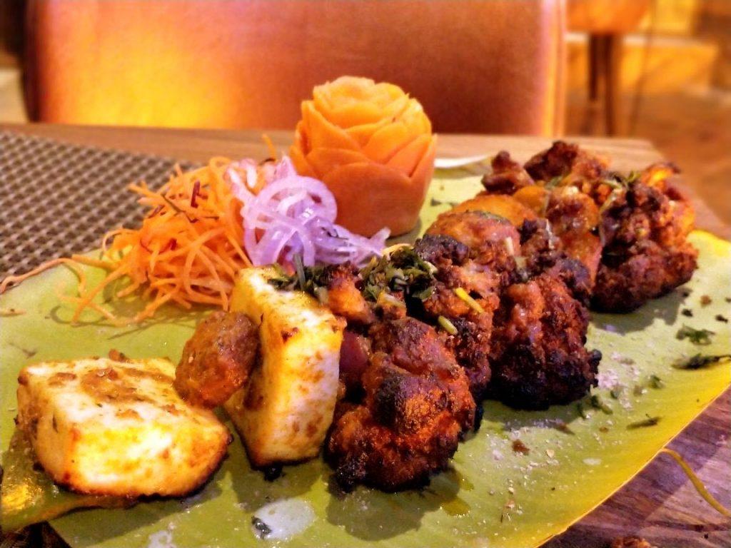 tandoori, vegetables, cauliflower, paneer, sabzi
