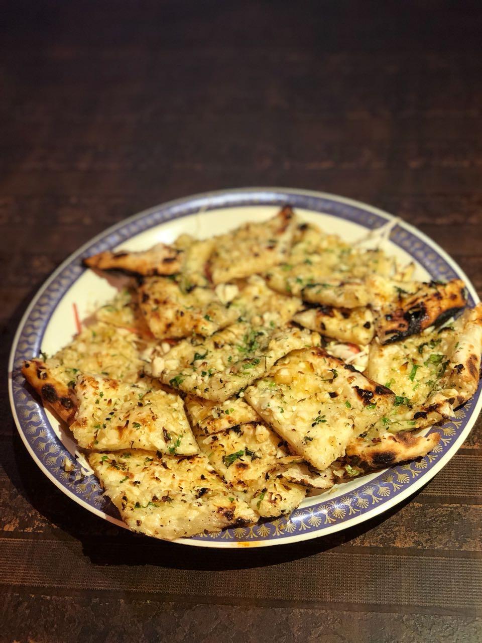 cheese, garlic, naan, crispy, dhaba, sunny da dhaba