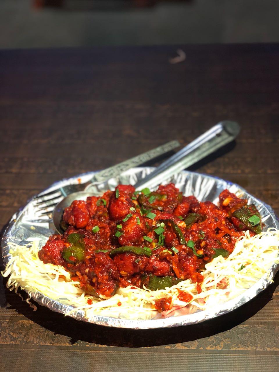 spicy chicken, chicken, dhaba style chicken