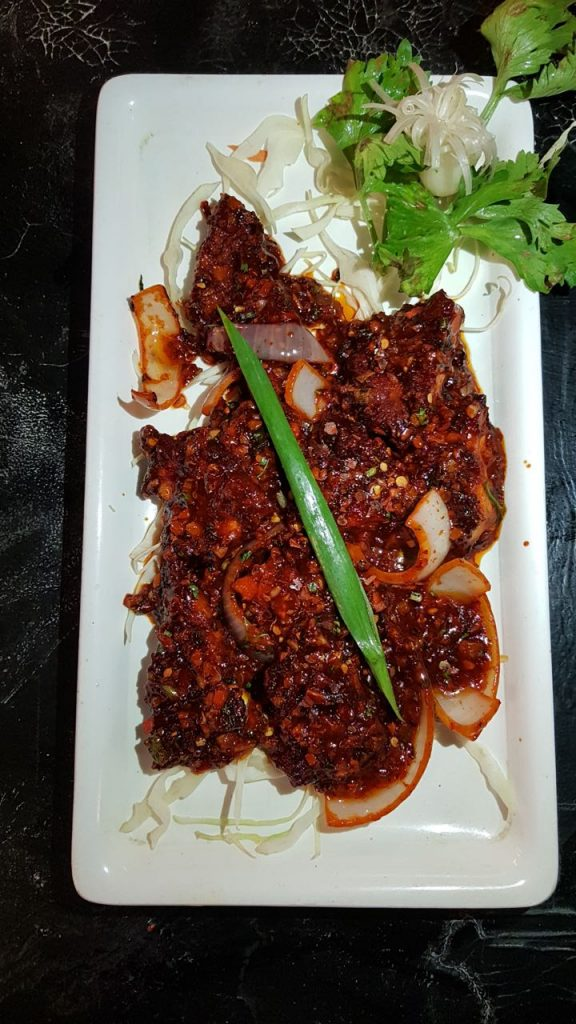 Chicken, spicy, chinese