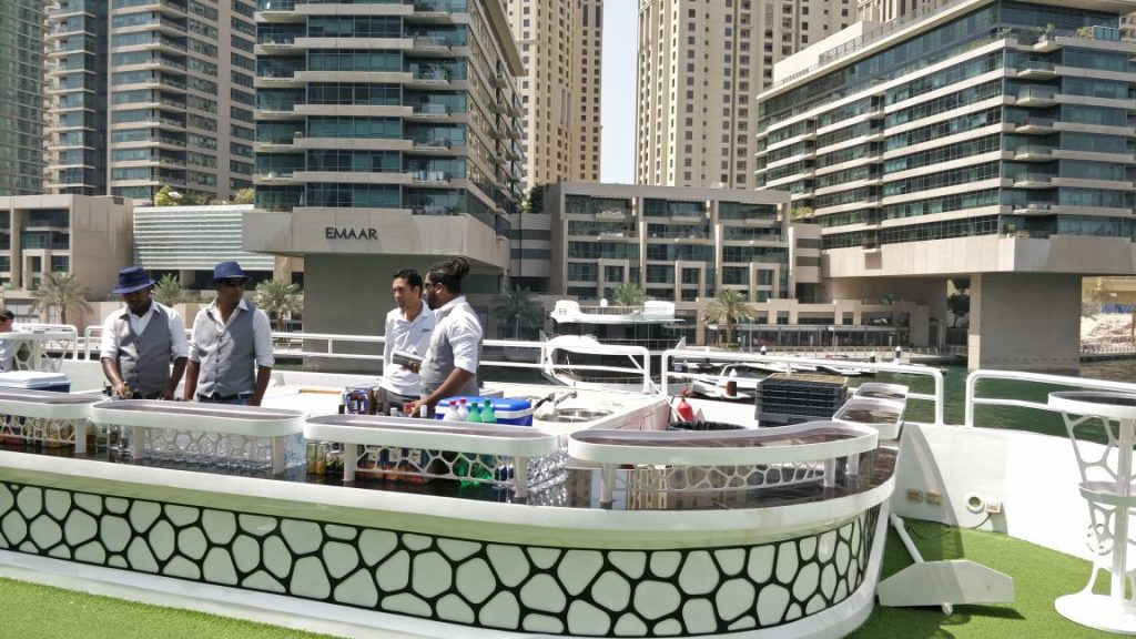 drinks, alcohol, soft drinks, unlimited buffet. yacht, deck, boat