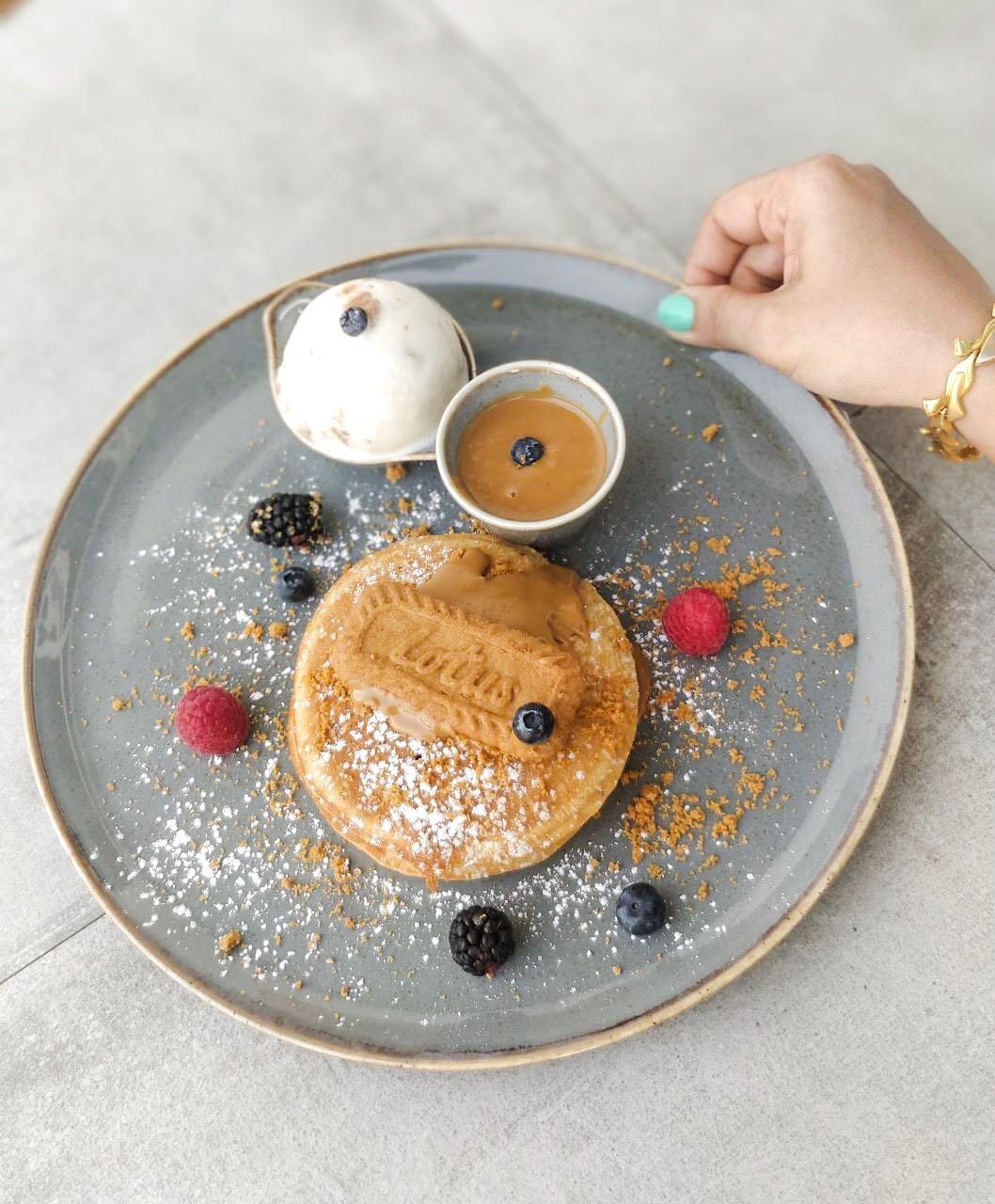lotus pancake, pancake, classic pancake, desserts, friday