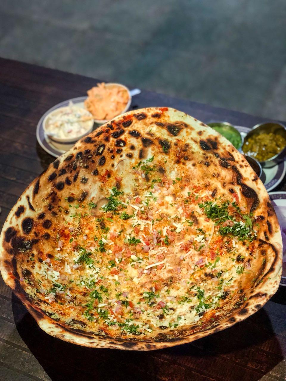 Roomali roti, Roomali Masala Papad, papad, starters, dhaba, dhaba food