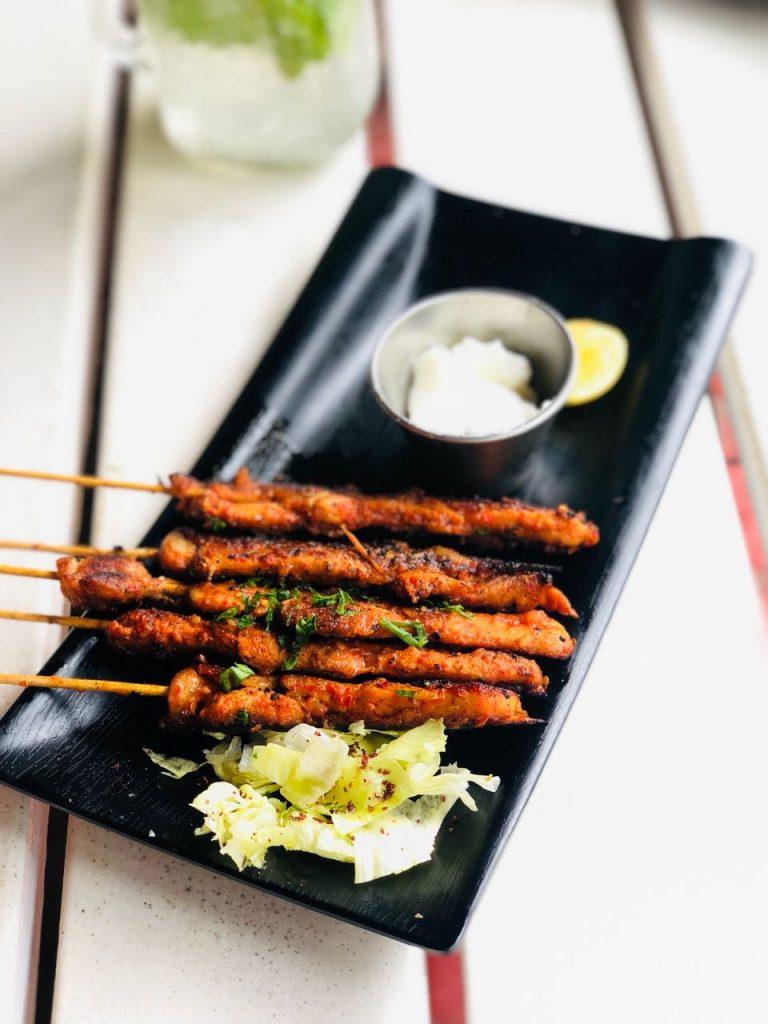non veg dish, chicken skewers, souq by cafe arabia, arabic restaurant