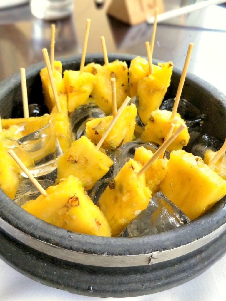 spicy pineapple, fruits, starters, zomato india