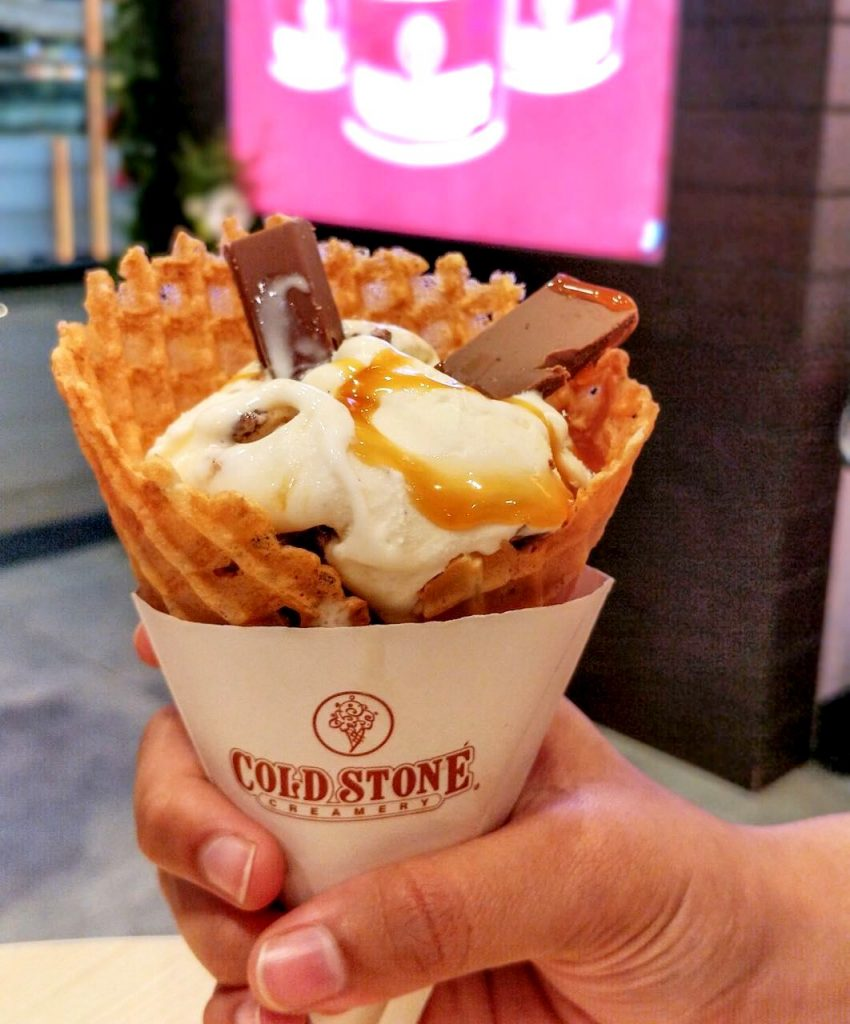 salted ice cream, caramel ice cream, salted caramel, coldstone india, coldstone pune, coldstone ice cream